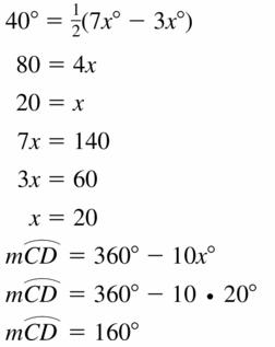 Big Ideas Math Geometry Answers Chapter 10 Circles 10.5 Ans 25
