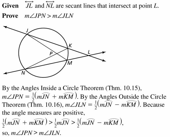 Big Ideas Math Geometry Answers Chapter 10 Circles 10.5 Ans 29