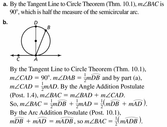 Big Ideas Math Geometry Answers Chapter 10 Circles 10.5 Ans 33.1