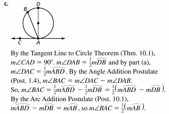 Big Ideas Math Geometry Answers Chapter 10 Circles 10.5 Ans 33.2