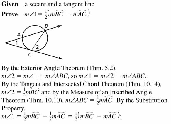 Big Ideas Math Geometry Answers Chapter 10 Circles 10.5 Ans 37.1