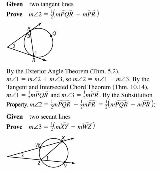Big Ideas Math Geometry Answers Chapter 10 Circles 10.5 Ans 37.2
