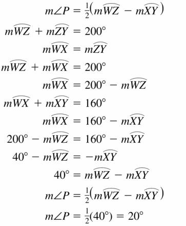 Big Ideas Math Geometry Answers Chapter 10 Circles 10.5 Ans 39