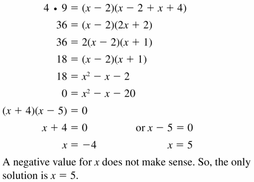 Big Ideas Math Geometry Answers Chapter 10 Circles 10.6 Ans 9