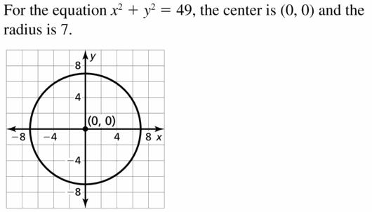 Big Ideas Math Geometry Answers Chapter 10 Circles 10.7 Ans 13