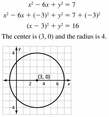 Big Ideas Math Geometry Answers Chapter 10 Circles 10.7 Ans 15