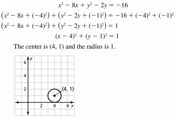 Big Ideas Math Geometry Answers Chapter 10 Circles 10.7 Ans 17