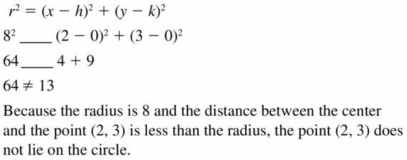 Big Ideas Math Geometry Answers Chapter 10 Circles 10.7 Ans 19
