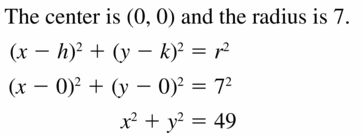 Big Ideas Math Geometry Answers Chapter 10 Circles 10.7 Ans 5