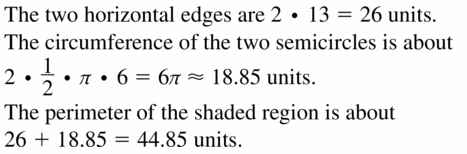 Big Ideas Math Geometry Answers Chapter 11 Circumference, Area, and Volume 11.1 Ques 15