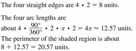 Big Ideas Math Geometry Answers Chapter 11 Circumference, Area, and Volume 11.1 Ques 17