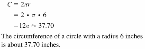 Big Ideas Math Geometry Answers Chapter 11 Circumference, Area, and Volume 11.1 Ques 3