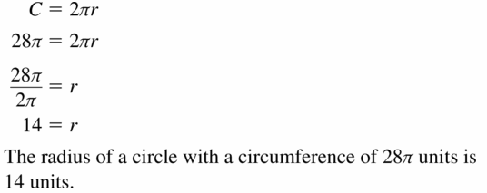 Big Ideas Math Geometry Answers Chapter 11 Circumference, Area, and Volume 11.1 Ques 5