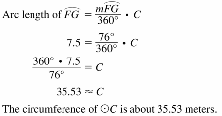 Big Ideas Math Geometry Answers Chapter 11 Circumference, Area, and Volume 11.1 Ques 9