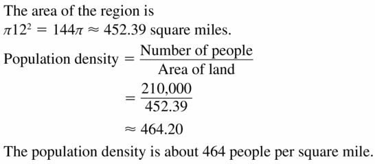 Big Ideas Math Geometry Answers Chapter 11 Circumference, Area, and Volume 11.2 Ques 11