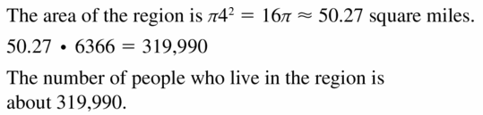 Big Ideas Math Geometry Answers Chapter 11 Circumference, Area, and Volume 11.2 Ques 13