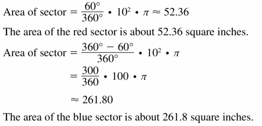 Big Ideas Math Geometry Answers Chapter 11 Circumference, Area, and Volume 11.2 Ques 15