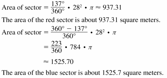 Big Ideas Math Geometry Answers Chapter 11 Circumference, Area, and Volume 11.2 Ques 17