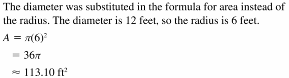 Big Ideas Math Geometry Answers Chapter 11 Circumference, Area, and Volume 11.2 Ques 19