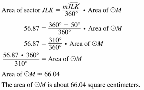 Big Ideas Math Geometry Answers Chapter 11 Circumference, Area, and Volume 11.2 Ques 21