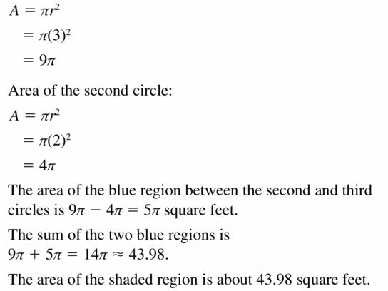 Big Ideas Math Geometry Answers Chapter 11 Circumference, Area, and Volume 11.2 Ques 25.2