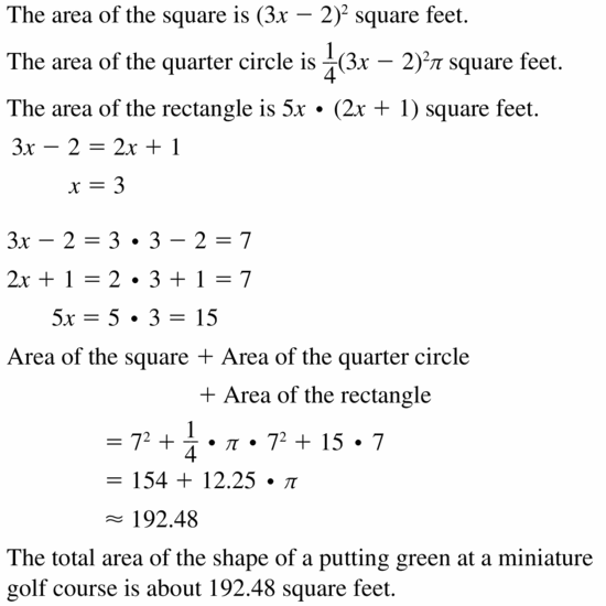 Big Ideas Math Geometry Answers Chapter 11 Circumference, Area, and Volume 11.2 Ques 29.1