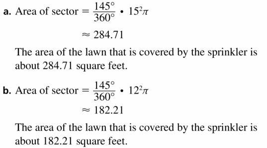 Big Ideas Math Geometry Answers Chapter 11 Circumference, Area, and Volume 11.2 Ques 31