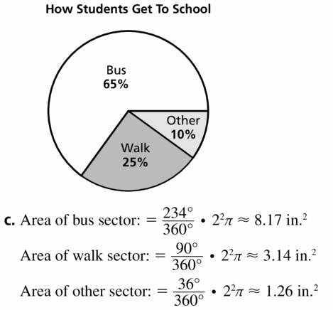 Big Ideas Math Geometry Answers Chapter 11 Circumference, Area, and Volume 11.2 Ques 35.2