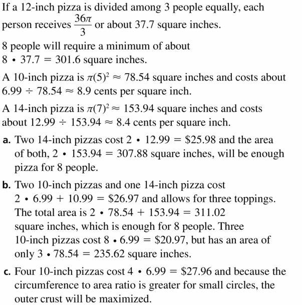 Big Ideas Math Geometry Answers Chapter 11 Circumference, Area, and Volume 11.2 Ques 37.1