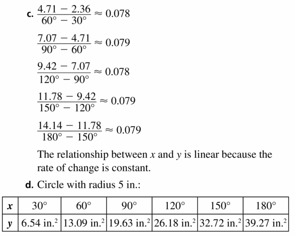 Big Ideas Math Geometry Answers Chapter 11 Circumference, Area, and Volume 11.2 Ques 39.2