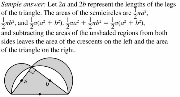Big Ideas Math Geometry Answers Chapter 11 Circumference, Area, and Volume 11.2 Ques 41
