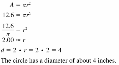 Big Ideas Math Geometry Answers Chapter 11 Circumference, Area, and Volume 11.2 Ques 9