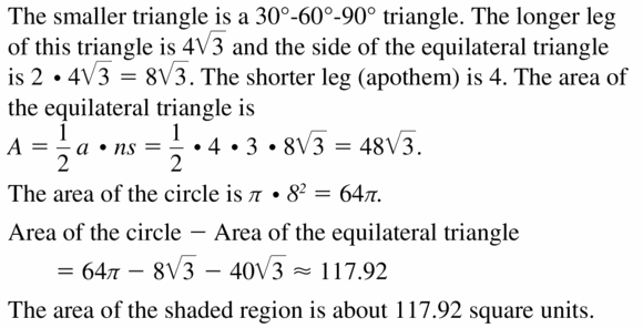 Big Ideas Math Geometry Answers Chapter 11 Circumference, Area, and Volume 11.3 Ques 29