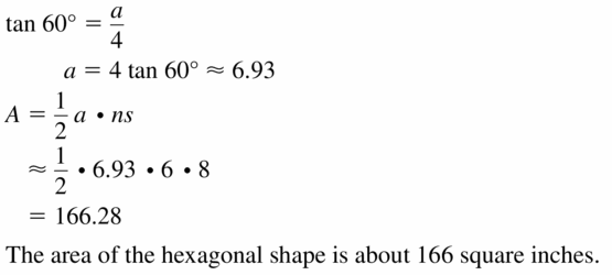 Big Ideas Math Geometry Answers Chapter 11 Circumference, Area, and Volume 11.3 Ques 31