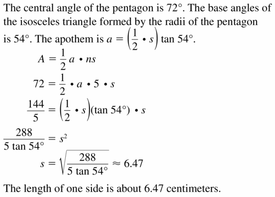Big Ideas Math Geometry Answers Chapter 11 Circumference, Area, and Volume 11.3 Ques 47