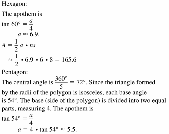 Big Ideas Math Geometry Answers Chapter 11 Circumference, Area, and Volume 11.3 Ques 49.1
