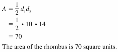 Big Ideas Math Geometry Answers Chapter 11 Circumference, Area, and Volume 11.3 Ques 5
