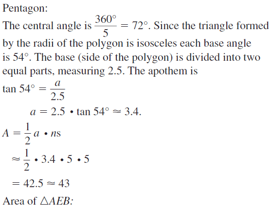 Big Ideas Math Geometry Answers Chapter 11 Circumference, Area, and Volume 11.3 Ques 51.1