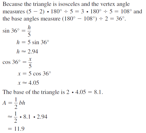 Big Ideas Math Geometry Answers Chapter 11 Circumference, Area, and Volume 11.3 Ques 51.2