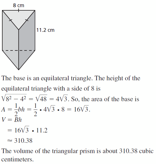 Big Ideas Math Geometry Answers Chapter 11 Circumference, Area, and Volume 11.5 Ques 11