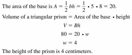 Big Ideas Math Geometry Answers Chapter 11 Circumference, Area, and Volume 11.5 Ques 19