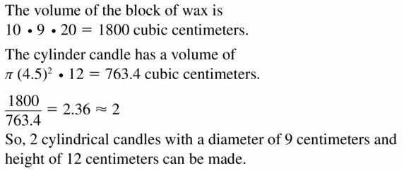 Big Ideas Math Geometry Answers Chapter 11 Circumference, Area, and Volume 11.5 Ques 35