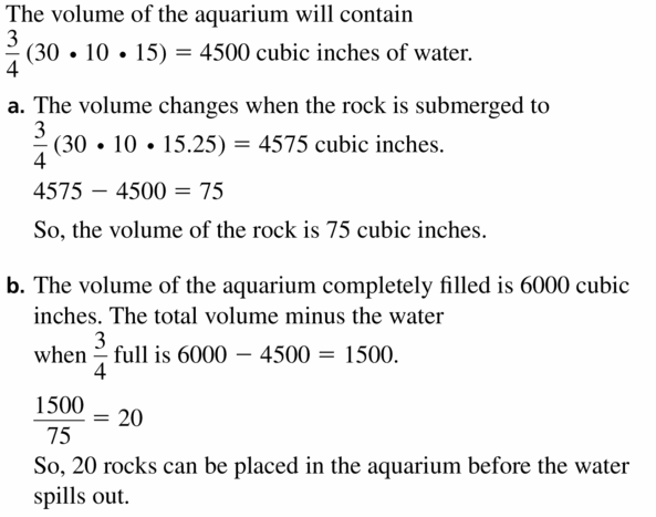Big Ideas Math Geometry Answers Chapter 11 Circumference, Area, and Volume 11.5 Ques 37