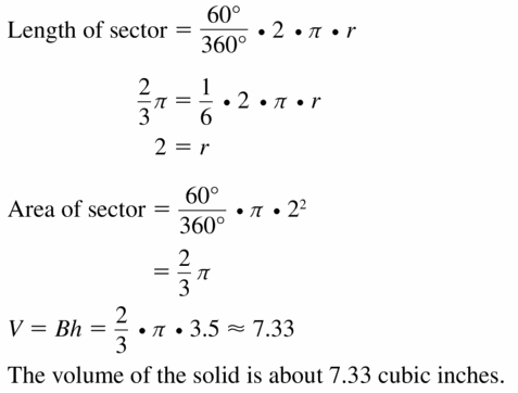 Big Ideas Math Geometry Answers Chapter 11 Circumference, Area, and Volume 11.5 Ques 47