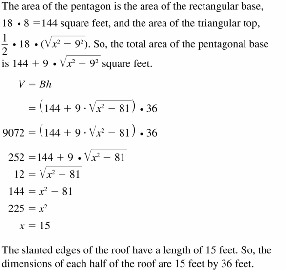 Big Ideas Math Geometry Answers Chapter 11 Circumference, Area, and Volume 11.5 Ques 53