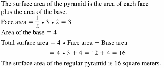 Big Ideas Math Geometry Answers Chapter 11 Circumference, Area, and Volume 11.5 Ques 55