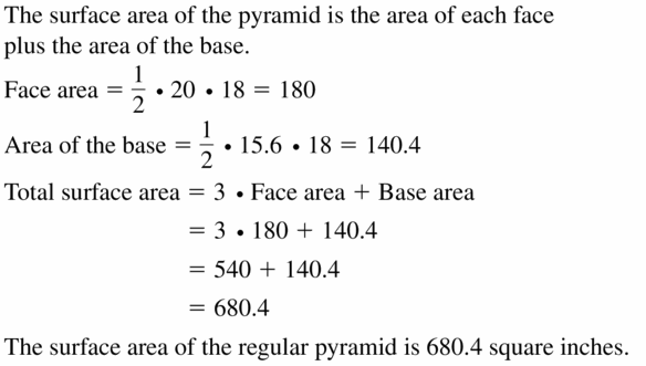 Big Ideas Math Geometry Answers Chapter 11 Circumference, Area, and Volume 11.5 Ques 57