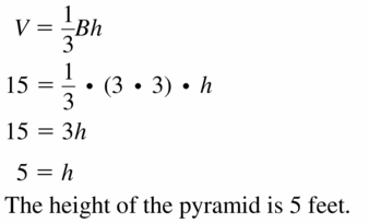Big Ideas Math Geometry Answers Chapter 11 Circumference, Area, and Volume 11.6 Ques 11