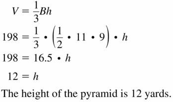 Big Ideas Math Geometry Answers Chapter 11 Circumference, Area, and Volume 11.6 Ques 13