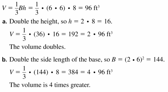Big Ideas Math Geometry Answers Chapter 11 Circumference, Area, and Volume 11.6 Ques 21.1